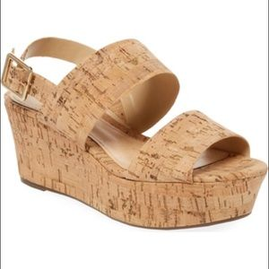 SCHUTZ coark platform sandals